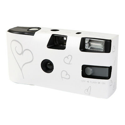 10 Pack Wedding Disposable Camera Silver Heart Design With Table Card Packs Hot