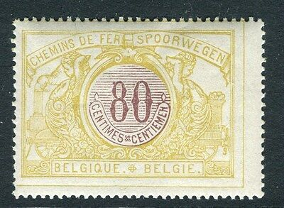 BELGIUM;  1902 early Railway Parcel Post issue Mint MNH 80c. value