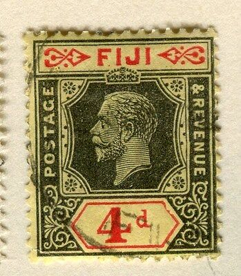 FIJI;  1922-9 early GV issue fine used 4d. value,