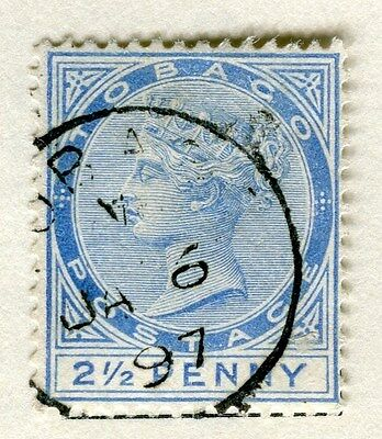 TOBAGO;  1880s early classic QV issue fine used 2.5d. value