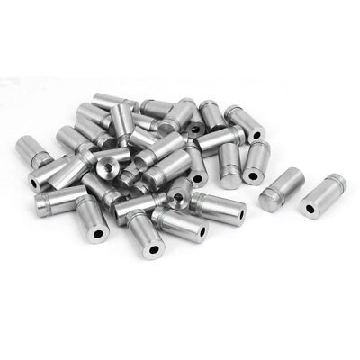 12mm x 27mm Stainless Steel Advertise Glass Standoff Pin Fixing Mount Bolt 36pcs