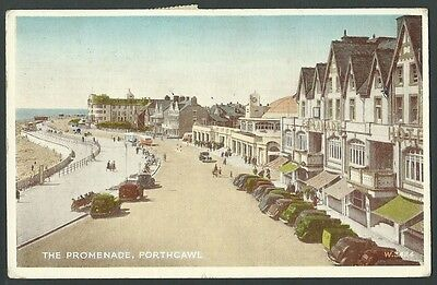 Porthcawl Glamorgan Bridgend The Promenade 1952 Valentine Printed Postcard
