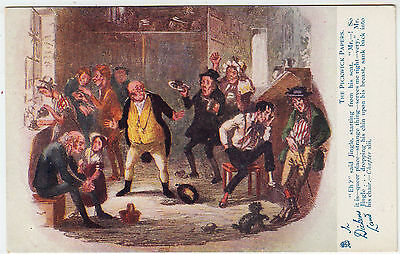 CHARLES DICKENS - Pickwick Papers - Raphael Tuck Oilette #6046 - c1900s postcard