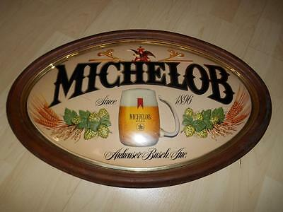 Old Vtg MICHELOB BEER Bar Wall Advertising Sign Anheuser Busch Brewery