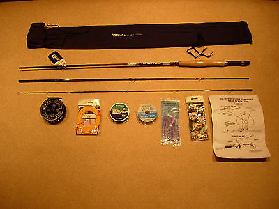 Lureflash Beginners Fly Fishing Rod/reel/line Outfit (6-8Wt)