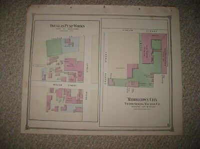 Antique Middletown Sewing Machine Company Pump Middlesex County Connecticut Map