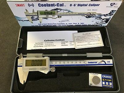 """iGaging IP67 Bluetooth 0-6"""" Coolant Digital Caliper,Connects to iphone & Tablets"""