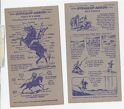 #9 Lot of 6 Diff 1949 NABISCO INJUN-UITY Cards Book #1 Cereal Straight Arrow Old