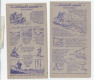 #5 Lot of 6 Diff 1949 NABISCO INJUN-UITY Cards Book #1 Cereal Straight Arrow Old