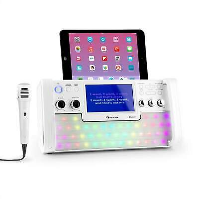 Karaoke Musik Kompakt Anlage System Bluetooth Mp3 Cd Player Usb Boxen Mikrofon