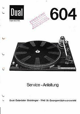 Service Manual instructions for Dual 604