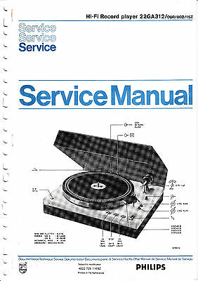 Service Manual instructions for Philips 22 GA 312