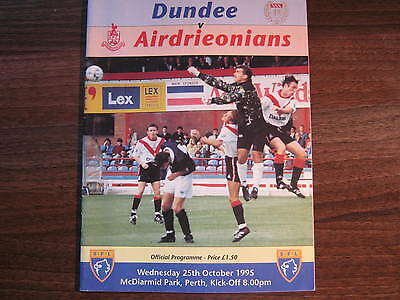 Dundee v Airdrieonians Scottish Coca Cola Cup Semi Final Match Programme 1995