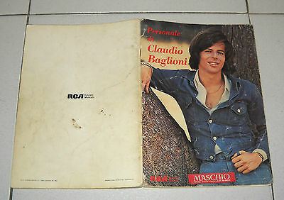 Spartiti Personale di CLAUDIO BAGLIONI vocal chords 1982 Songbook spartito