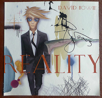 Hand Signed David Bowie Canvas Reality Album Artwork RARE Autographed Promo