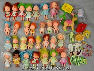 Strawberry Shortcake Vintage Dolls & Clothes Horse Babies Huge Lot kk1
