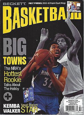 Kurt Anthony Towns Cover Beckett NBA Price Guide April, 2016 Issue # 283