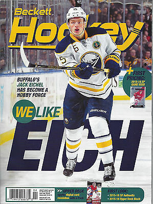 Jack Eichel Cover Beckett NhL Price Guide April, 2016 Issue # 284