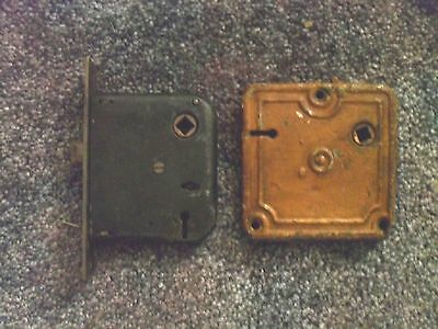 2 Vintage Door Lock Mechanisms, Skeleton Key Type, Key Not Included