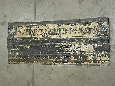 "Old Antique ( Metal )  tin ceiling tile 24"" x 9"" cornice"