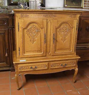 Louis Xv Style French Carved Oak 2 Door/2 Drawer Side/drinks Cabinet  (030088)