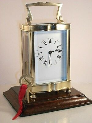 """Antique French brass and 5-glass """"Louis XV Doucine"""" cased carriage clock & KEY. • £205.00"""