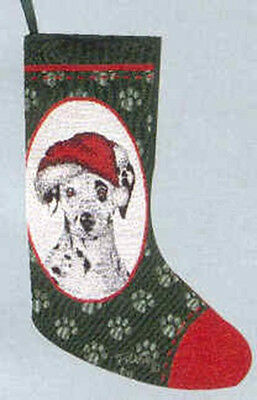 Woven Jacquard Fabric DALMATIAN Holiday Stocking CLEARANCE PRICE