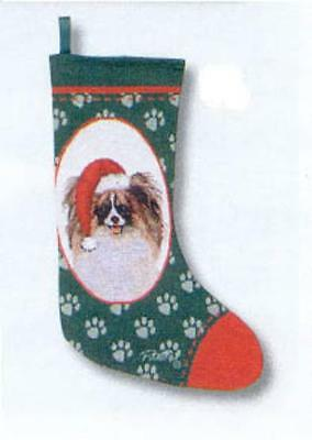 Woven Jacquard Fabric PAPILLON Holiday Stocking CLEARANCE PRICE