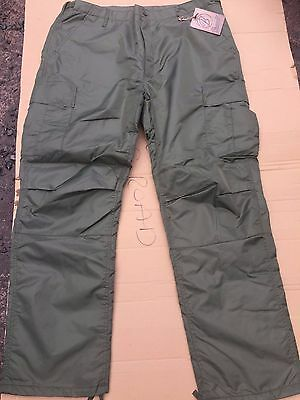 Thermal  Quilted Lined BDU Cold Weather Trousers Green