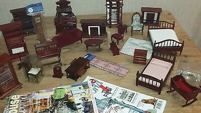 Dolls House Emporium Mixed Job Lot Furniture 12Th Scale Living Room Bedroom