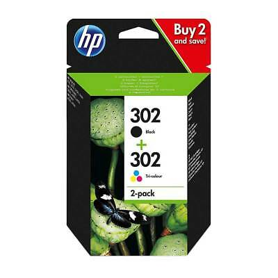 Genuine Original HP 302 Combo Black & Colour Ink For  Deskjet 1110 2130 3630
