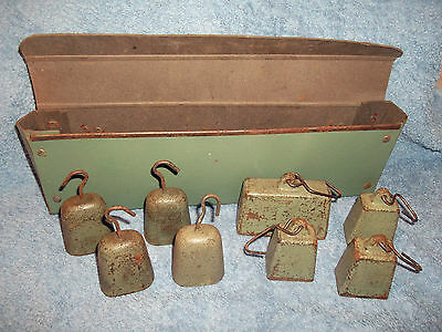 Vintage scale weights + case