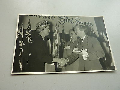 1960c ORIGINAL PHOTO MRS DOWLING US AMBASSADOR WIFE & GIRLS SCOUT LEADERS