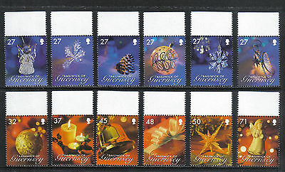 Guernsey 2007 Christmas/Decorations--Attractive Art Topical (959-70) MNH