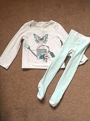 Girls Top And Tights Outfit Set Next 2-3 Years
