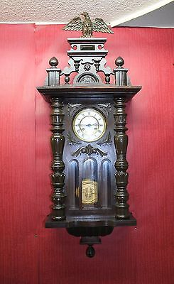 Antique-Wall-Clock- Vienna Regulator 19th century *110 cm height *
