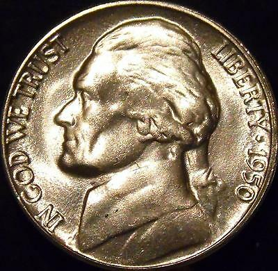 1950-D Jefferson Nickel Gem BU Full Steps Uncirculated