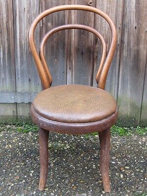 Antique Art Nouveau Thonet bentwood beech child doll's cafe dining side chair
