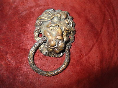 Antique Heavy Brass Lion Door Knocker/lion Door Striker/abbey/priory Knocker