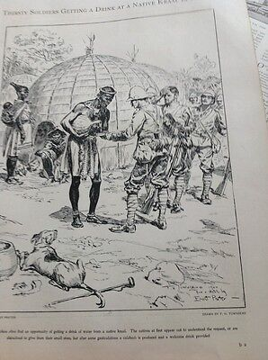 M62a 1900 1 Page Folded Boer War British Army Getting Drinks Native Kraal Natal