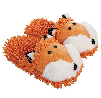 Aroma Home FUZZY FRIENDS SLIPPERS - UK Size 4 to 7 GINGER FOX