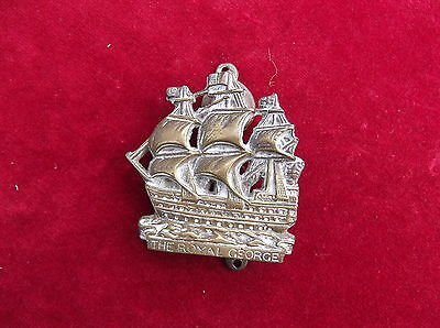 Antique Brass Royal George Galleon Door Knocker / Old Brass Ship Door Knocker