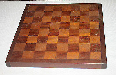 Vintage Handmade Wooden Chess Board No Pieces