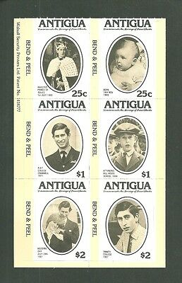Antigua Complete Set Of Self Adhesive Sheet 2 Scans Mint Nh/vf