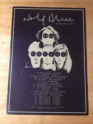 Wolf Alice - Large UK Tour, Official Concert / Gig poster, March 2016