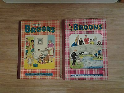 2 vintage the broons annuals ,1969, (6/_ price) 1977 (75p price)