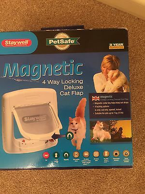 Stay well Magnetic 4 Way Locking Deluxe Cat Flap. Pet safe