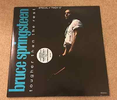 "BRUCE SPRINGSTEEN Tougher Than The Rest 12"" vinyl single WITH POSTER SLEEVE"