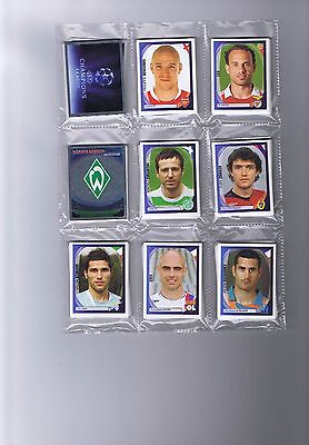 Panini Champions League 2007-2008 loose set of mint stickers