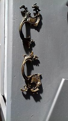 Pair Antique French Rococo Drawer Handles